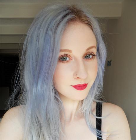 grijs paars haar