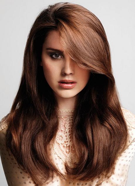 Mooie bruine haarkleur